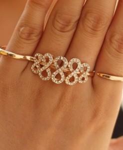 Cristal-personalizado-de-Infinity-Charm-oro-doble-placa-para-mujeres-moda-Punk-Metal-estilo-anillo-de